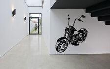 Wall Decor Art Vinyl Sticker Mural Decal Biker Motorcycle Bike Poster Ride SA563