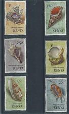 KENYA #45-50 MNH OG 1971 SEA SHELL S   MUST SEE