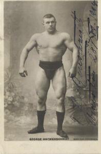 GEORGE HACKENSCHMIDT Signed Photograph - Professional Wrestler - preprint