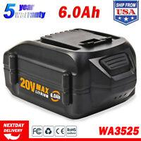 WA3525 WA3578 For WORX 20V Max Lithium Power Tool 6.0AH Battery WA3520 WA3732 US