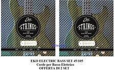EKO ELECTRIC BASS SET 45/105 OFFERTA 2 set di corde per basso elettrico 4 corde