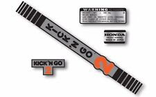 Honda KICK 'N GO 2 complete decal set