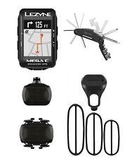 Lezyne Mega C GPS Bike Computer Black, Garmin speed cadence, Cycling Multi Tool