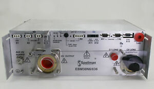 11104 SPELLMAN TRIODE E-BEAM COLUMN HIGH VOLTAGE POWER SUPPLY EBM30N6/636