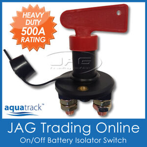 12V~24V 500A BATTERY ISOLATOR KILL SWITCH with KEY & CAP -Boat/Caravan/4x4/Truck