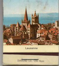 Streichholzschachtel Lausanne Schweiz