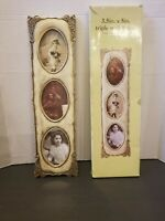 """New Shabby Chic 3.5"""" x 5"""" Picture Frame Antique Look Off White 17"""" H Home Decor"""