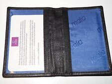 BNWT Mala Leather ID BUS PASS  train travelcard holder new 6105T black