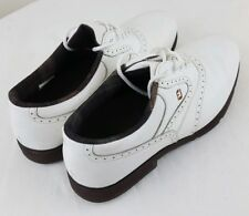 FOOTJOY Softjoys Terrains 98316 Mens White Lace Up Soft Cleats Golf Shoe Size 8M