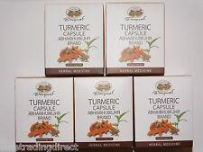 Turmeric Capsules x5  Curcumin Curcuma Longa Linn  95% Curcuminoid   Antioxidant