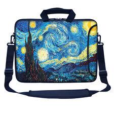 """17.3"""" 17"""" Neoprene Laptop Bag Sleeve with Pocket Shoulder Strap Handle 3009"""