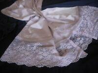 Vanity Fair vintage silky nylon mauve petticoat half waist slip underskirt