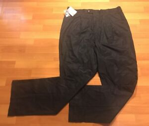 New Ashworth Pants Men's Size 40 Black NWT Pleated Front
