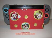 Nintendo Switch DOCK SOCK Screen Scratch Protector - SUPER MARIO LUIGI PEACH RED
