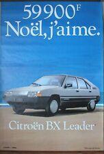 Citroen BX Leader 59900 F affiche publicitaire (n°39)