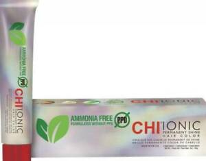 CHI IONIC PERMANENT SHINE HAIR COLOR AMMONIA FREE - YOU CHOOSE THE SHADE!