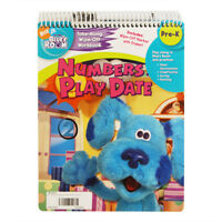 Nickelodeon Blue's Clues Numbers Play Date Wipe Off Workbook Figure Out Mystery