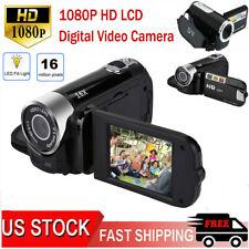 1080P HD LCD Digital Video Camera TFT LED 16X Zoom DV AV Camcorder Handheld US