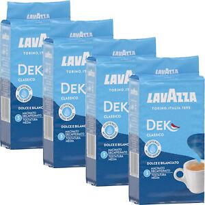 4x Lavazza DEK Entkoffeiniert Kaffee gemahlen 250g