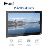 "Eyoyo 15.6"" Inch IPS HDMI Monitor Support AV/VGA/BNC/USB Input W/ Remote Control"
