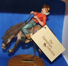 """Willitts 8"""" Equestrian Collection Bronco and Rider Sculpture - #3852"""
