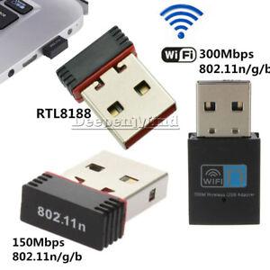 Mini USB 150/300Mbps WiFi Wireless Adapter Dongle Netzwork LAN Card 802.11n/g/b