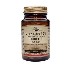 Solgar Vitamin D3 1000 IU (25ug) Chewable Tablets 100