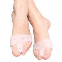 2PCS Silicone Bunion Corrector Toe Separators Straighteners Pain Relief Gel Pad