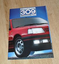 Peugeot 309 GTI FOLLETO 1988