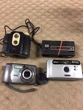 """Vintage Camera Lot Of 4 Camera'S-Kodak-Nikon - Ansco-All """"As Is"""" Not Tested-71"""