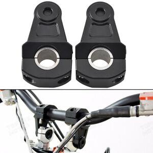 2pcs Motorcycle HandleBar Handle Fat Bar Mount Clamps Riser Universal 7/8'' 22mm