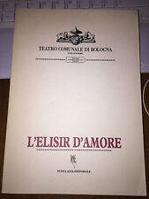 L'Elisir d'Amore Donizetti Libretto dell'Opera Teatro Comunale di Bologna 1e1987