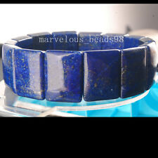 15x20mm Fashion Natural Lapis Lazuli Oblong Stretch Bracelet G6602