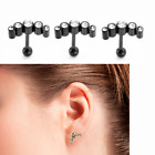 Chic Pair 16G CZ Steel Barbell Ear Tragus Cartilage Helix Stud Earrings Piercing