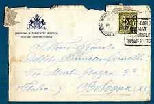 MONACO - 1924 - BUSTA- Destinazione Bologna.Principe Louis II. R682