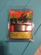 "ADJUSTABLE 34"" INCH CANVAS 3 Pack Belts childrens Spongebob Tmnt NWT"