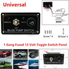 1 Gang Fused Marine Bilge Pump Toggle Switch Panel For Boat RV 12V Manual Auto photo