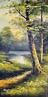 Stunning Original Oil on Canvas Landscape By Ray Son In GoldWood Framed & Signed