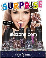 China Glaze Nail Polish SURPRISE Glitter Collection CHOOSE YOUR FAVORITE LACQUER