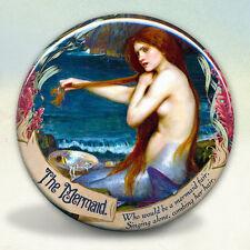 A Mermaid Fair Waterhouse Pocket Mirror tartx