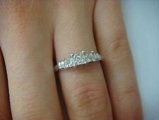 "PLATINUM ""PAST, PRESENT AND FUTURE"" 0.50 CT PRINCESS CUT DIAMOND ENGAGEMENT RING"