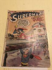 Superman #123 Low Grade 1958 1st app. 'Super-Girl' Key HTF CGC It DC Supergirl