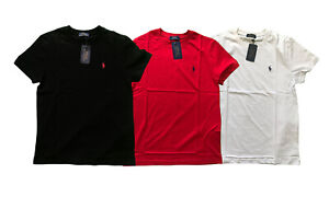 New Ralph Lauren Polo Classic-Fit T Shirt S-XXL White blanc Black noir Red 2020