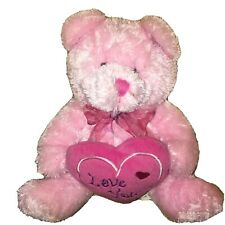 10� Plush Teddy Bear Pink I Love You Heart Bday Valentine Love Gift New