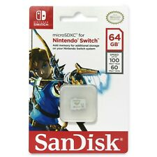 SanDisk Nintendo Switch micro SD XC microSDXC 64GB100mb/60mb UHS-3