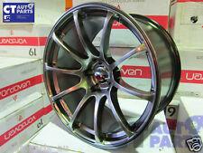 19 x10.5 ADVAN RACING Style Hype Black Alloy Wheels Rim 5x114.3 EVO GTR S15