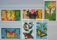 TUNISIA TUNESIEN 1994 1293-98 1057-62 Butterflies Schmetterlinge Insects Fauna**