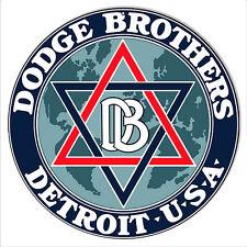 Dodge Bros Detroit Garage Shop Reproduction Metal Sign 14x14