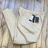 Pendleton Women's Sz 8 Ultra 9 Stretch Wool Khaki High Rise Pleated Pants