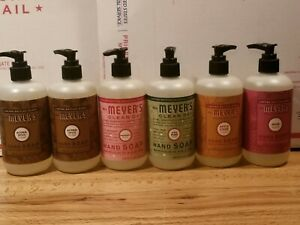 Mrs Meyers Hand Soap Clean Day Peppermint, Mum,Apple Cider,Pine, 2 Acorn Spice